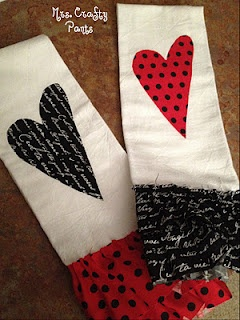 No Sew Valentine Kitchen Towels!