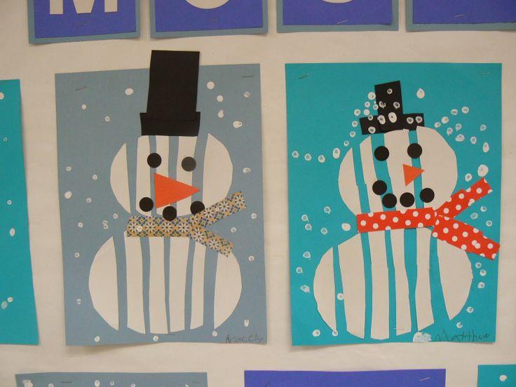 Mrs. T's First Grade Class - snowman mosaic