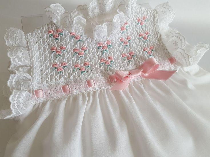 VESTIDO NIÑA-vestido bebé-talla 0-3 meses-primera puesta-punto