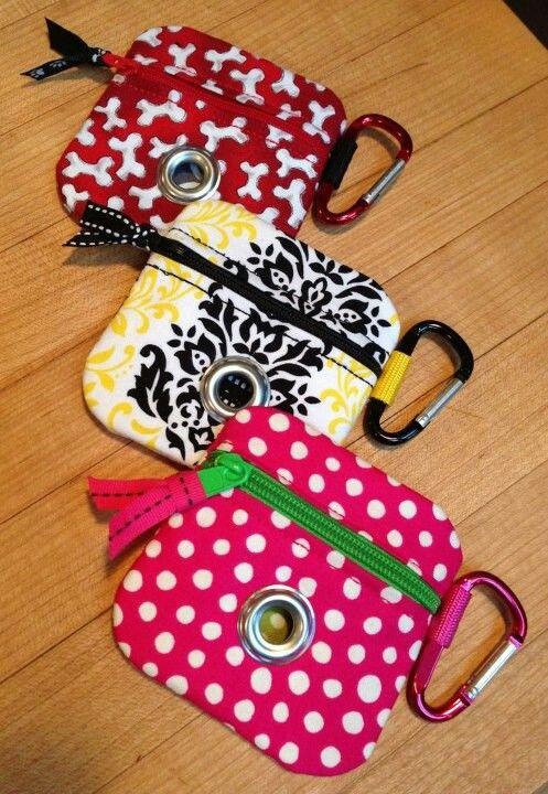 Poop bag holders.. Sooo cute