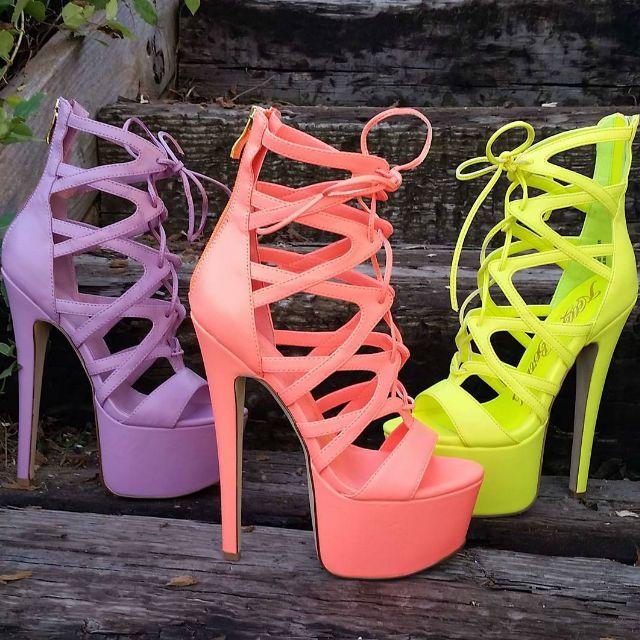 Nelly Bernal Strappy 7 inch Stilettos
