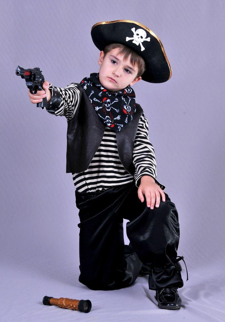 """""""Пират """"Кожаный жилет"""" (чёрный)"""".  Рост: 134 - 146 см.  Сайт:) http://skazkindom.dp.ua"""