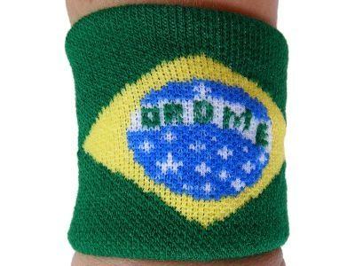 BRAZIL BRAZILIAN COUNTRY FLAG SOCCER SPORTS WRISTBAND