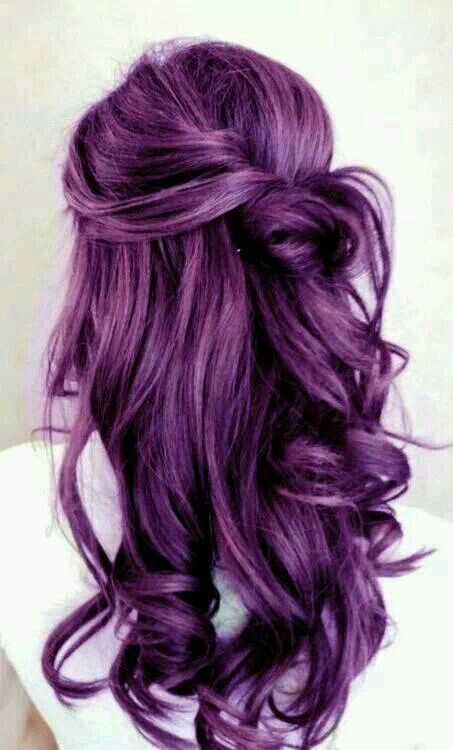 amazing hair, beauty, cabello, cool, curly, cute, fashion, girl, girls, gorgeous, hair, hair colour, hairs, purple hair, things, pelo morado, cabellos, cabellos de colores, grape color, tinte morado