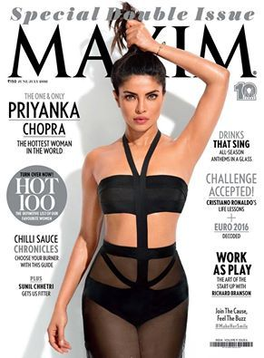 The one & only #Priyankachopra- The hottest 100 in the World..Maxim June/July Special Issue is Out..Grab your copy now