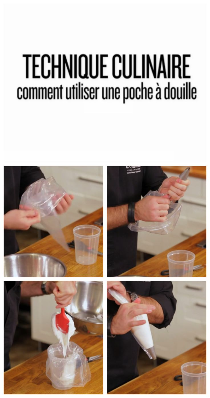 Technique culinaire : comment utiliser une poche à douille #video #cuisine