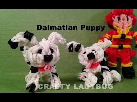 Rainbow Loom Dalmation Puppy Dog Charm