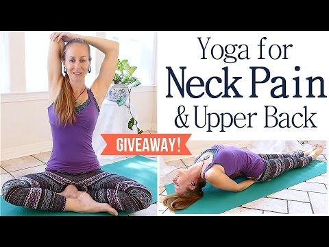 Easy Neck & Back Pain Stretches & Exercises, 10 Minute Beginners Yoga Routine - YouTube