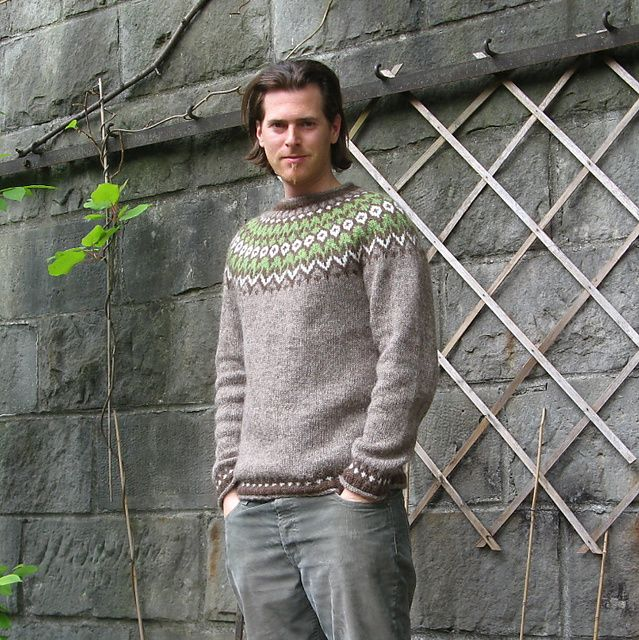 Ravelry: Riddari pattern by Védís Jónsdóttir. Love this muted colour combination.