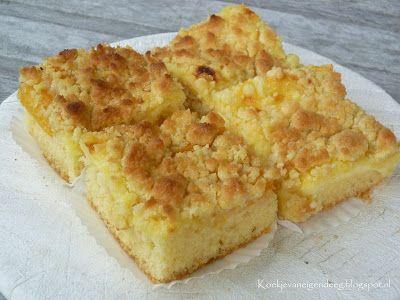 Koekje van eigen deeg: Pfirsich und Vanillepudding Streuseln Kuchen