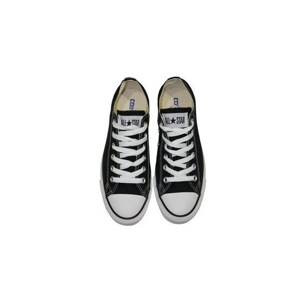 Converse Chuck Taylor All Star Black Ox Trainers (94 CAD) ❤ liked on Polyvore featuring shoes, sneakers, converse, zapatos, rock sneakers, converse shoes, all star shoes and all star sneakers