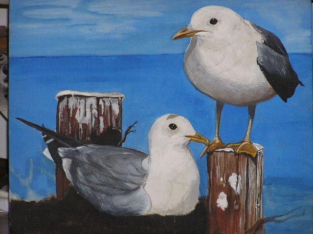 gabbiano tridattilo oil on canvas oct 2012