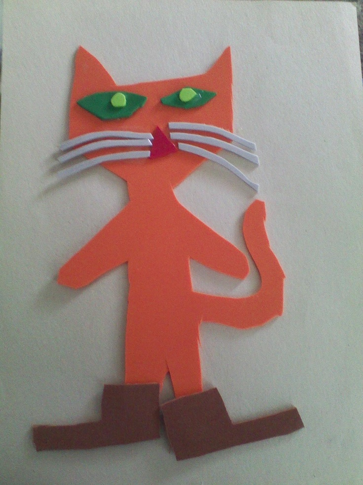 7 best images about pete the cat storytime on pinterest for Cat art and craft