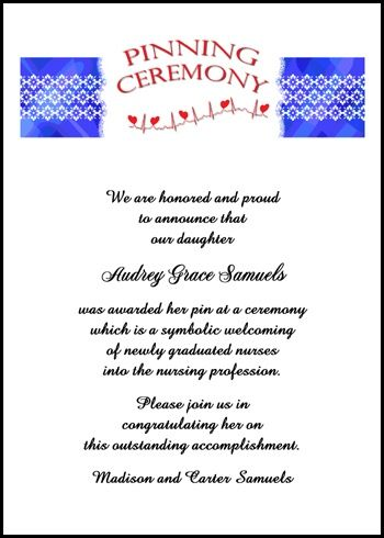 91 best nurse graduation announcements invitations images on save with our 10 free pinning ceremony nurse invitations and nursing announcement cards from graduation cards shop filmwisefo Images