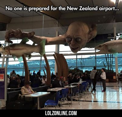 Not the New Zealand Airport. It's actually the Wellington one and it's not  an international airport, But so true. #KiwiPride