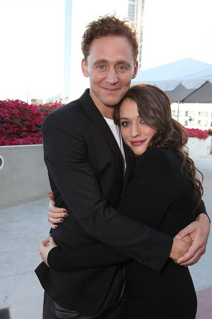 Tom Hiddleston & Kat Dennings <3 Loki and Darcy! I want a ship coming up in Thor 2!