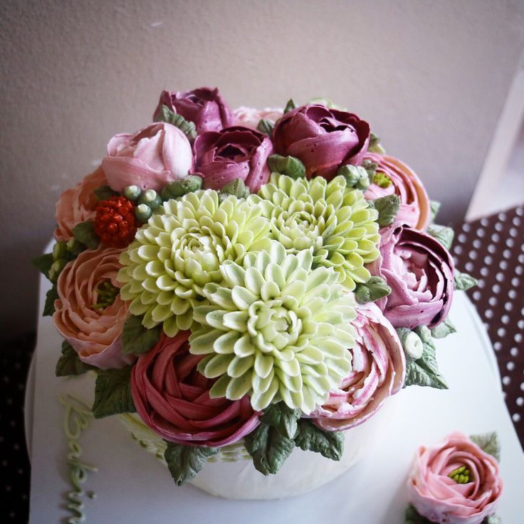 17+ ideas about Buttercream Flower Cake on Pinterest ...