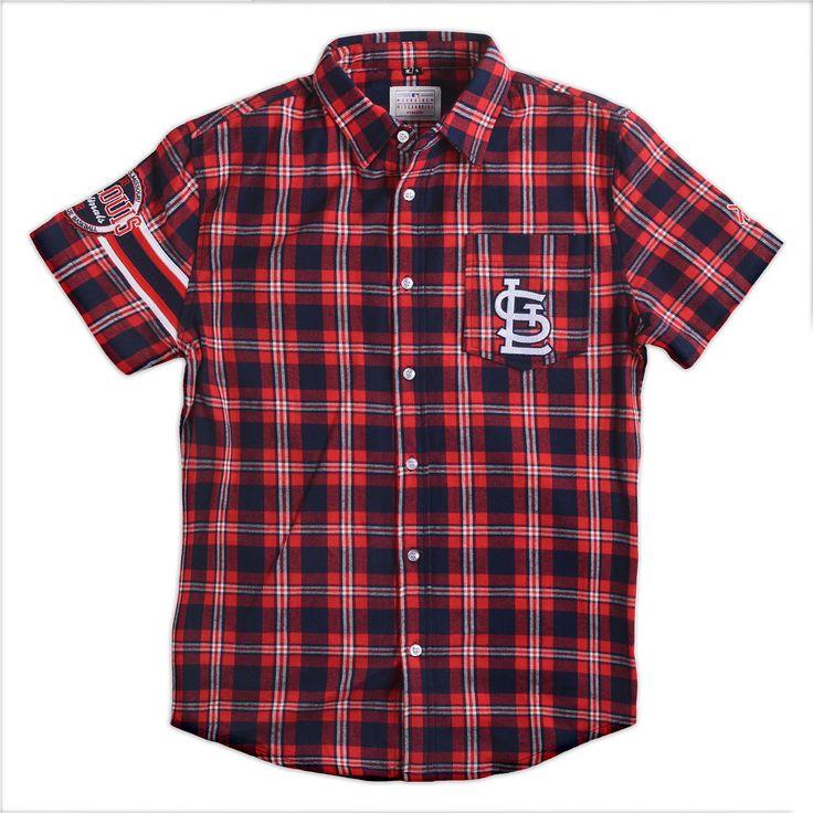 #StLouis #Cardinals Wordmark #ShortSleeve Flannel $Shirt by Klew