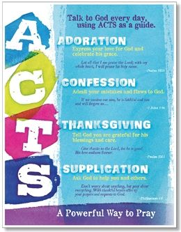 ACTS: Powerful Prayer Bulletin Board Poster Set