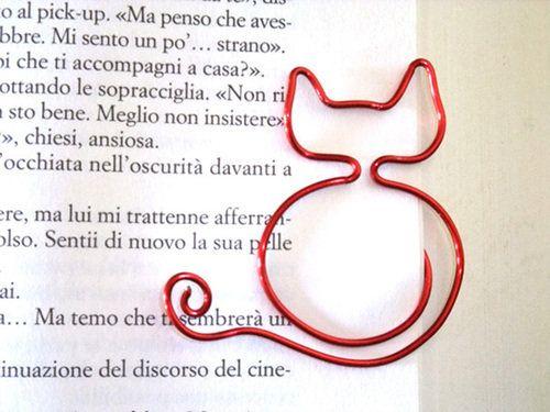 segnalibro gatto rosso, by officina del bosco, 3,00 € su misshobby.com