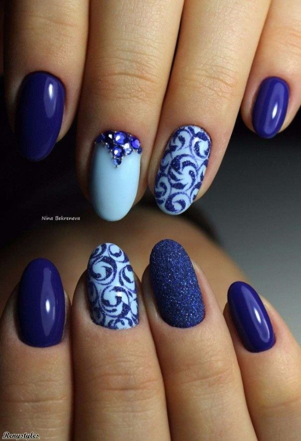 best 25 blue nail ideas on pinterest pastel blue nails blue nails and royal blue nails