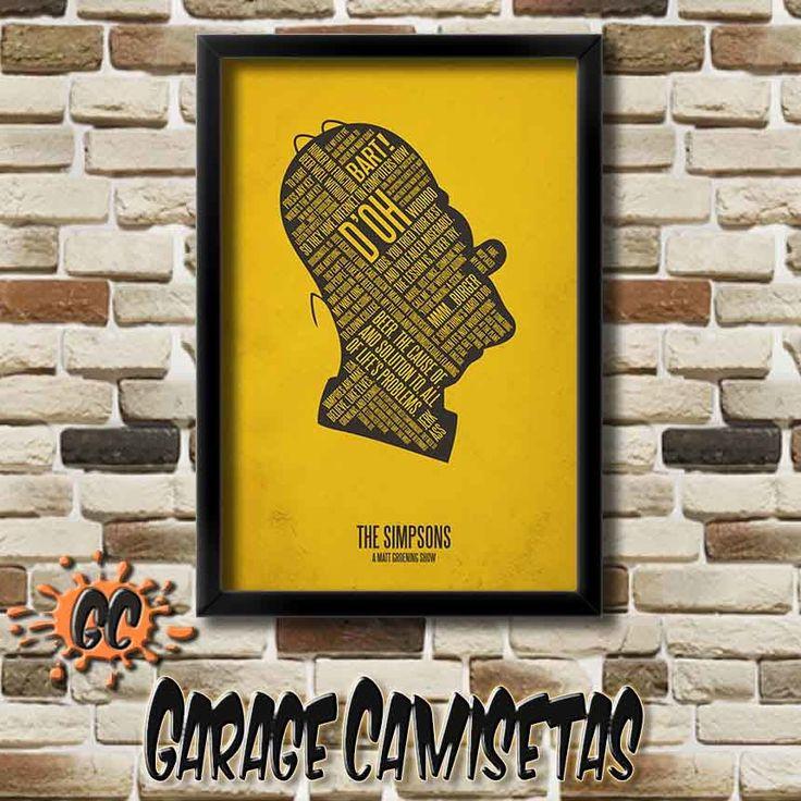 Poster A3 Homer Simpson Adquira o seu agora: http://www.elo7.com.br/poster-minimalista-homer-doh/dp/638614