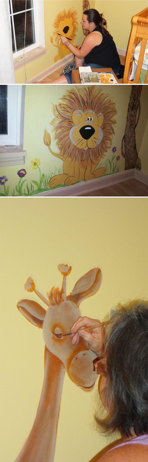 Meer dan 1000 ideeën over bloem muurschildering op pinterest ...