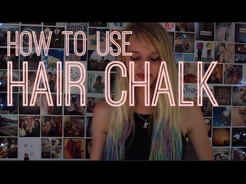 Tutorial: How to use Hair Chalk.   #ombre #colour #hairdye #hairchalk