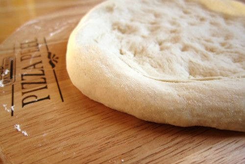 Homemade Sourdough Pizza  Ingredients      1 cup sourdough starter, unfed (straight from the fridge)     1/2 cup hot tap water     2 1...
