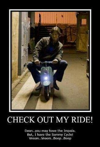 The Sammy cycle!! Ha ha!! Xxx