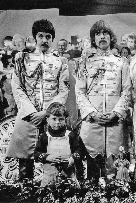 A friend visits the group during the album cover photoshoot to Sgt Pepper