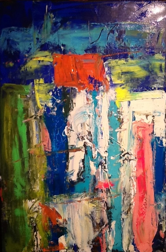 Abstract Painting by W Joe Adams 24X36.