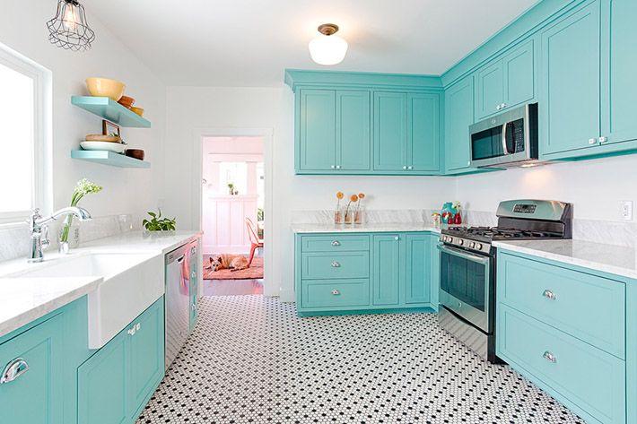 +1000 ideias sobre Banheiro De Cor Aqua no Pinterest  Decoração De Banheiro  -> Decoracao De Banheiro Com Ladrilho Hidraulico