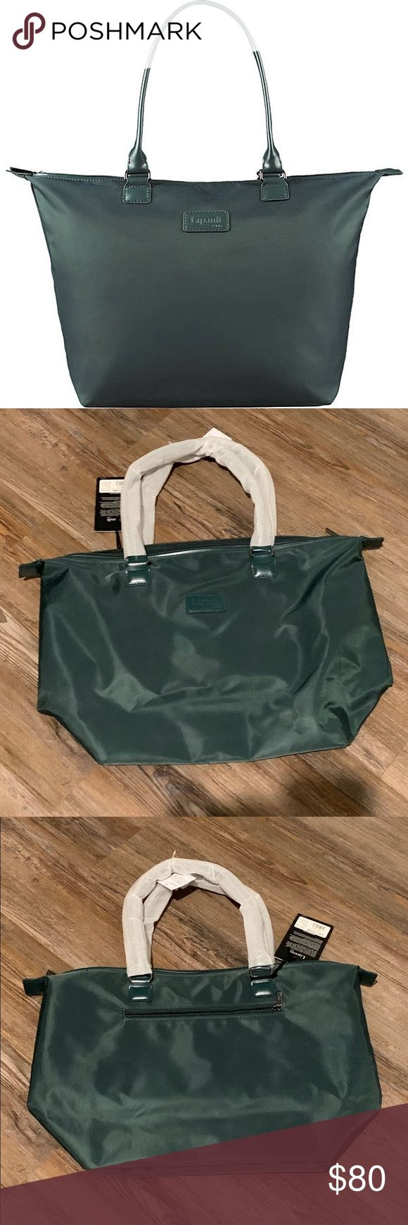 NWT Lipault Lady Plume Tote Bag in Forest Green Perfectly designed for everyday …