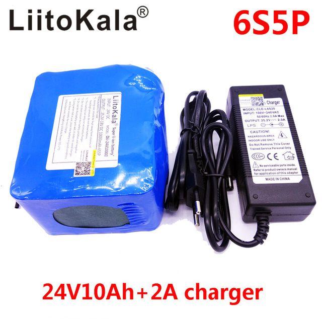 >> Click to Buy << LiitoKala HK Marca 6S5P celulas 24 V 10Ah bateria DE litio 350 w e - bike li-ion 25.2 V DE litio BMS bateria bicicleta electrica #Affiliate