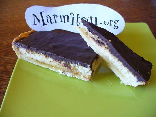 Tarte Bounty (choco-coco) - Recette de cuisine Marmiton : une recette