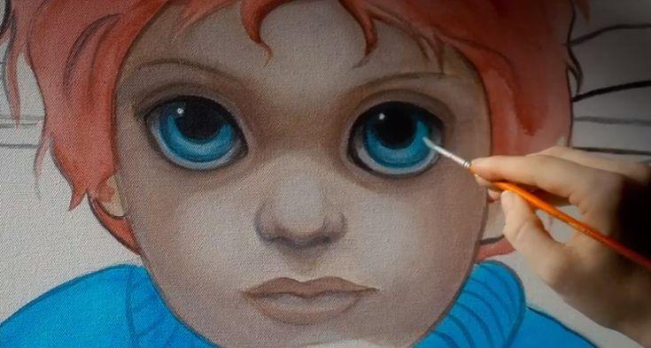 Keene Artist Big Eyes | ... margaret keane eyes photos are screen caps from the big eyes trailer