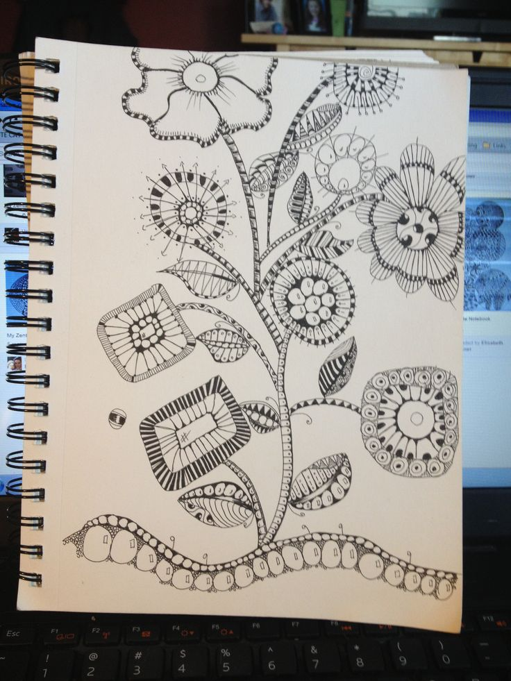 How fun...I love doing flowers...they are relatively easy and fun to color. Zentangle Mod garden!!!