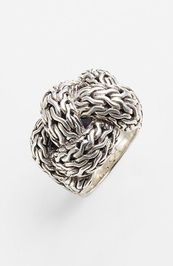 this will be going on my Xmas Wish List!!! John Hardy 'Classic Chain' Large Braided Ring available at #Nordstrom