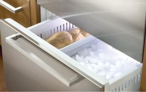 Sub-Zero offers a trio of two-drawer undercounter refrigerator drawer configurations: refrigerator only, freezer only, and a combination refrigerator/freezer. The Sub-Zero 700BC Combination Refrigerator Drawers are panel-ready 27-inch-wide refrigerator/freezers (one drawer each)  that include an icemaker. The Sub-Zero 700BR Refrigerator Drawers offer more than 5 cubic feet of storage space in two refrigerator-only drawers.