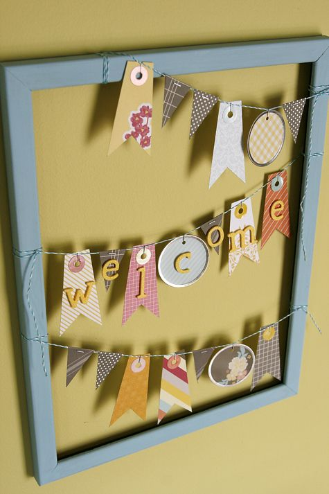 ウェルカムボードもかわいいかも♡手作り結婚式のデコレーションといえばガーランド♪ガーランドの作り方の手本とアイデアを集めました♡
