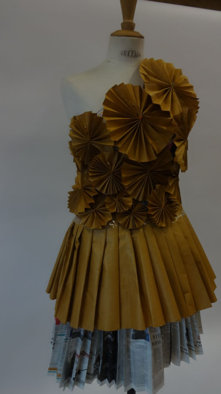 Level 1 NCFE Paper dress with Origami details by Michaela Kaelbel