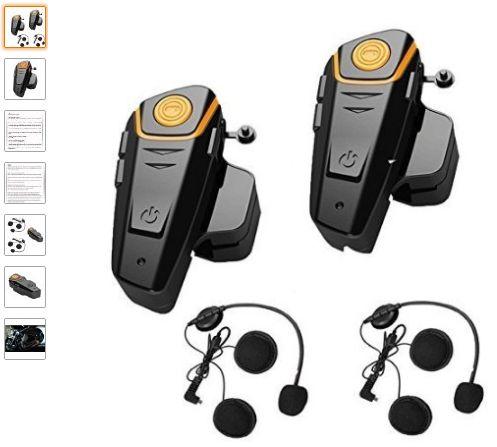 Best Bluetooth Communication Options For Under $100: Veetop 2 Bluetooth Motorcycle Helmet Intercom Headset