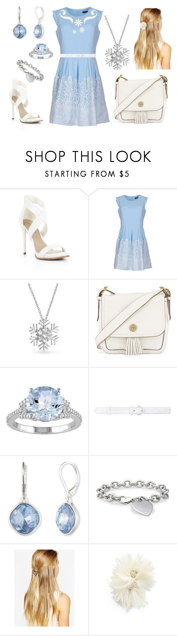 """Elena - Outfit 4: Descendants"" by sacredmaiden009 ❤ liked on Polyvore featuring BCBGMAXAZRIA, Soma, Bling Jewelry, Tory Burch, Oscar de la Renta, Vintage America, Blue Nile, DesignSix and Veil Trends"
