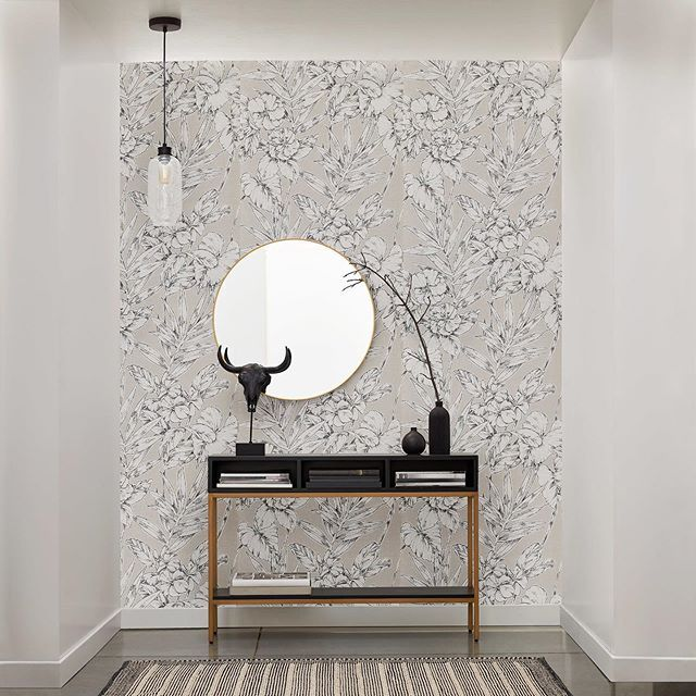 Completely Change A Space By Adding A Single Wall Of Wallpaper Tap To Select A Style Transform Modern Floral Wallpaper Stylish Decor Paint Colors For Home