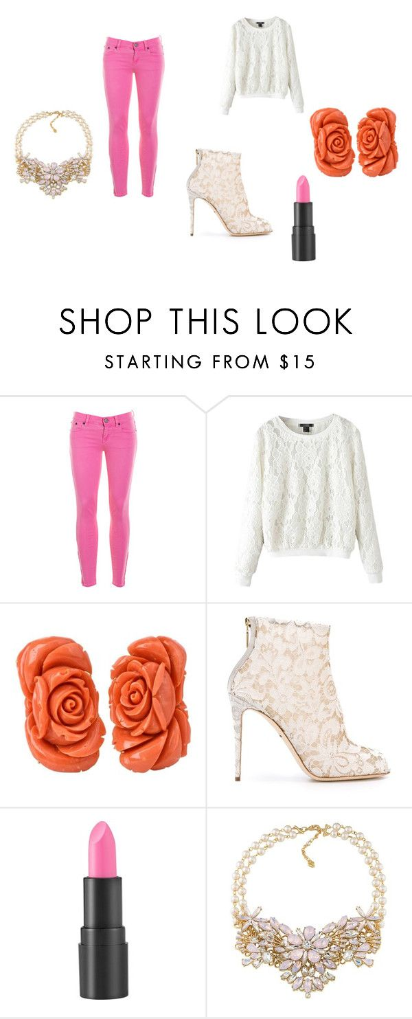 """""""Cute back to school outfit"""" by danielle-bff-renee on Polyvore featuring J.Crew, Dolce&Gabbana, too cool for school and Carolee"""