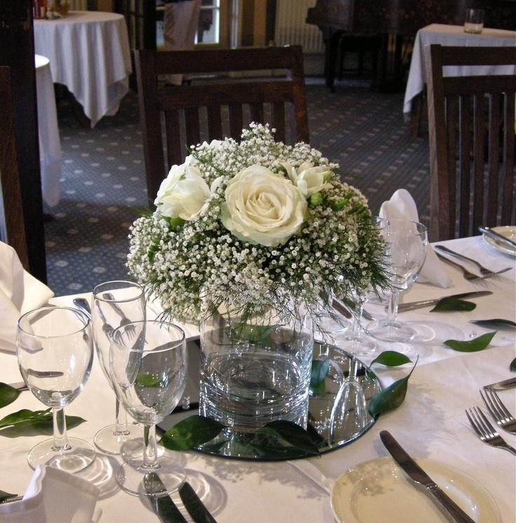 Wedding Flowers Blog: Emma's green and white wedding flowers, Burley Manor
