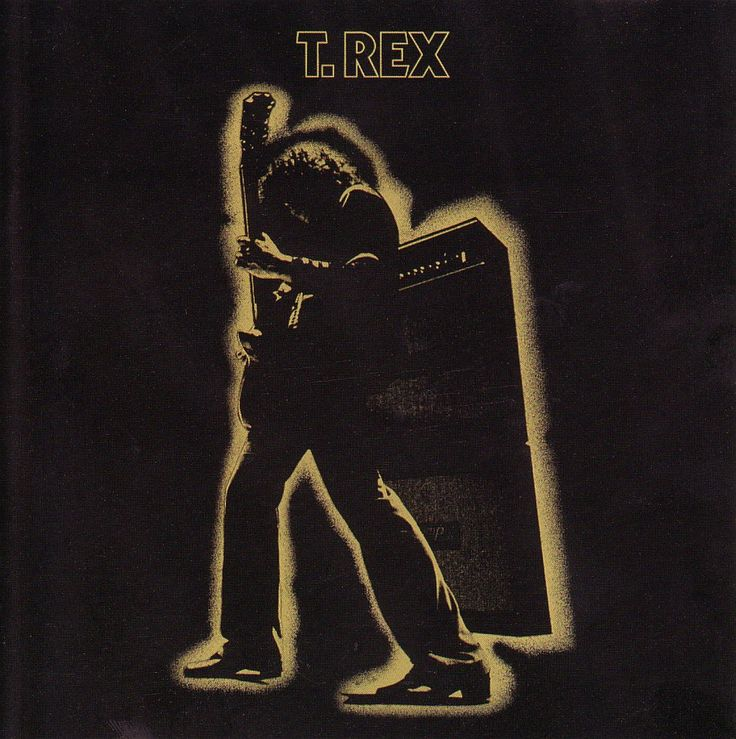 Marc Bolan (T REX) goes glam via guitar hero ('71) Electric Warrior album cover