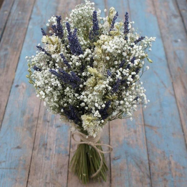 Lavender Twist Babys Breath Wedding Bouquet