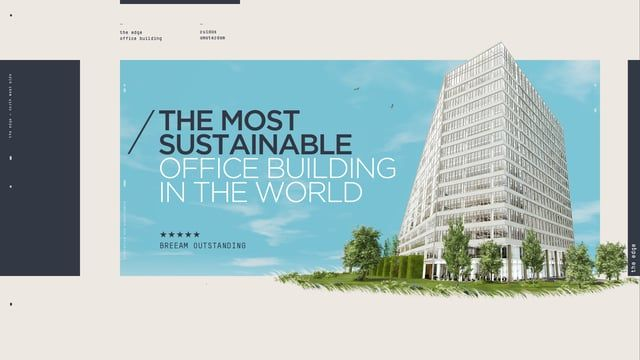 Our longest film so far. Almost four minutes packed with stuff we love to sink our teeth into: graphic design, user interface design, 2D animation, 3D animation and live-action.  The film highlights an architectural masterpiece located at the Amsterdam Zuidas called The Edge. After the success of the trailer we made last year, independent property developer OVG asked us to develop a sequel. In this piece we focus on the building's innovative features, which makes it the most sustainable…